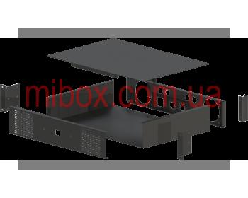 Корпус для усилителя мощности звука, модель MB-2300v2ACU-W432H88L300, RAL9005(Black textured)
