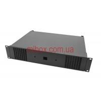Корпус для усилителя мощности звука, модель MB-2300v2 (Ш483(432) Г325(300) В88) черный, RAL9005(Black textured)