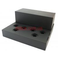 Шасси лампового усилителя звука, модель MB-6p14pACU-W364H66L334, RAL9005(Black textured)