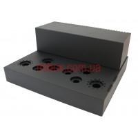 Шасси лампового усилителя звука, модель MB-6p3c(S)ACU-W400H66L344, RAL9005(Black textured)