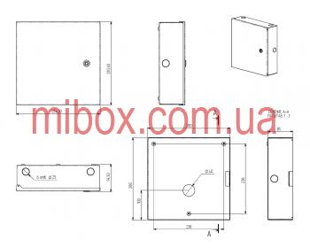 Монтажный бокс, модель MB-03MBc (Ш280 Г85 В280) белый, RAL9016(White)