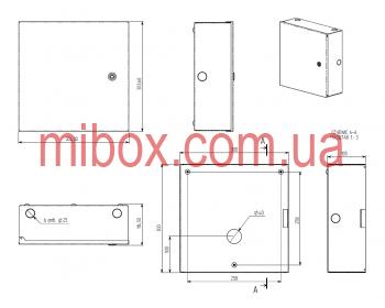 Монтажный бокс, модель MB-04MB (Ш300 Г105 В300) белый, RAL9016(White)
