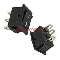 Переключатель клавишный №5-102 ON-ON 3pin черный, медь