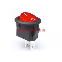 Переключатель клавишный №1-108-R ON-OFF круглый 2pin красный