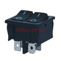 Переключатель клавишный №1-2101-6 ON-OFF 4pin черный