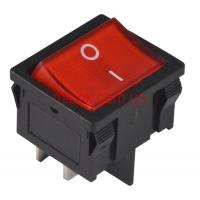 Переключатель клавишный №1-201-6 с подсветкой ON-OFF 4pin красный