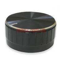 Ручка для переменного резистора R-08 черная (D = 40мм H = 17мм), алюминий
