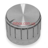 Ручка для переменного резистора R-09-1 серебряная (D = 23мм H = 17мм), алюминий