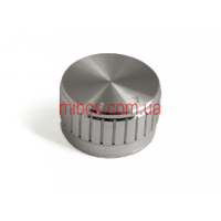 Ручка для переменного резистора R-09 серебряная (D = 30мм H = 17мм), алюминий