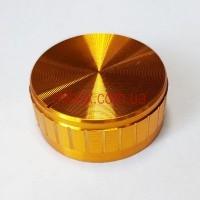 Ручка для переменного резистора R-11 под золото (D = 40мм H = 17мм), алюминий