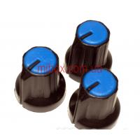 Ручка для переменного резистора R-01 синяя (D=14,5мм H=16мм), с указателем
