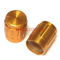 Ручка для переменного резистора R-03 под золото (D=13мм H=17мм), алюминий