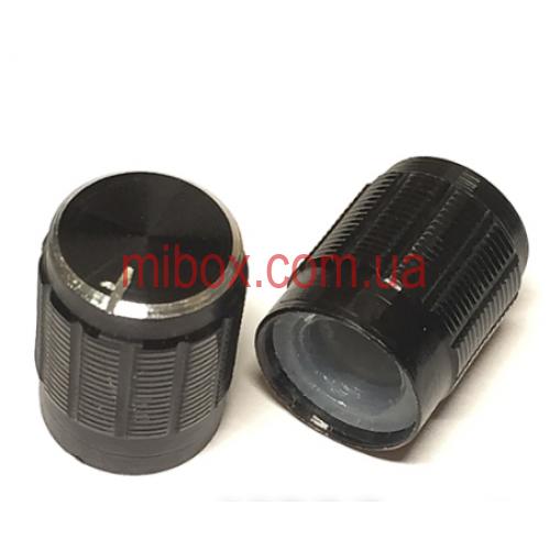 Ручка для переменного резистора R-03 черная (D=13мм H=17мм), алюминий