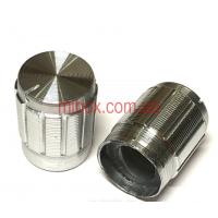 Ручка для переменного резистора R-03 серебряная (D=13мм H=17мм), алюминий
