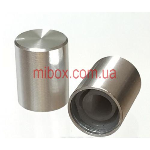 Ручка для переменного резистора R-07 серебряная (D=12,5мм H=17мм), алюминий