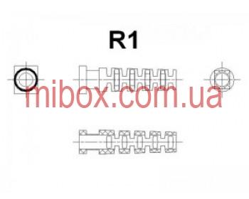 гибкий ввод для корпуса РЭА №1 (посад.отв.5х4, вн.R1мм), черный