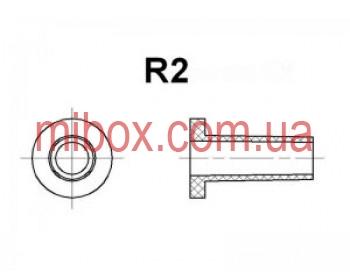 гибкий ввод для корпуса РЭА №2 (посад.отв.ф6.5мм, вн.R2мм), черный