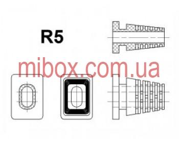 гибкий ввод для корпуса РЭА №5 (посад.отв.8х5, вн.6x3мм), черный