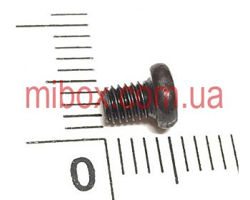 Винт черный М3х4 с полукруглой головкой