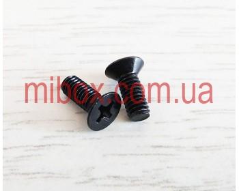 Винт черный М4х10 потайной