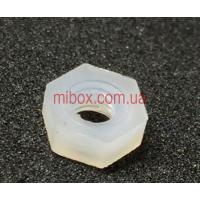 Гайка пластиковая М3, белая