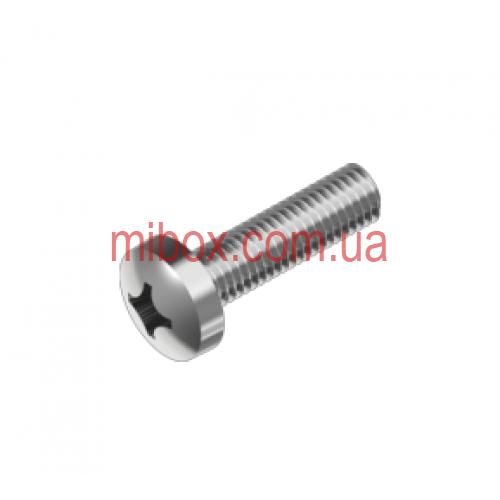 Винт М3х6 (цинк белый) с цилиндрической закругленной головкой (DIN 7985)