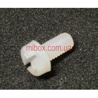 Винт пластиковый M3x6 с цилиндричеcкой головкой, белый