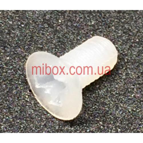 Винт пластиковый M3x6 потайная головка, белый