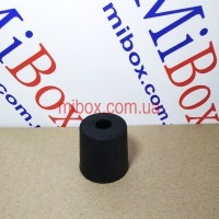 ножка резиновая, №15 (ф28/ф33, h33 мм), черная