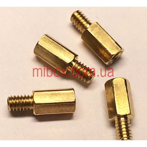 Стойка металлическая гайка/винт М2х5+3