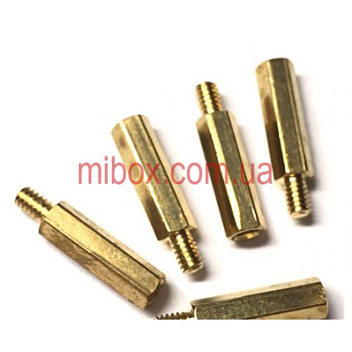 Стойка металлическая гайка/винт М2х10+3