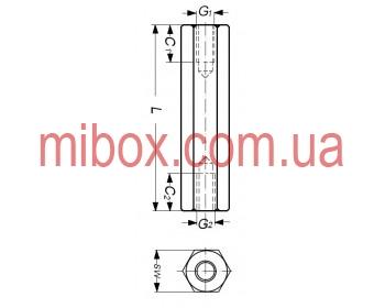 Стойка металлическая гайка/гайка М2,5х5