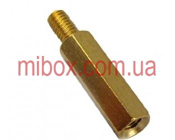 Стойка металлическая гайка/винт М2,5х15+4