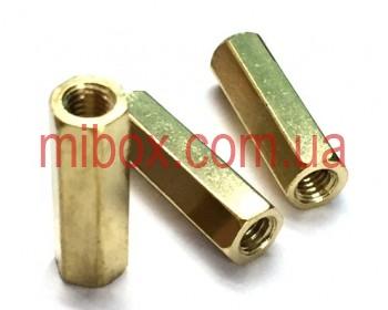 Стойка металлическая гайка/гайка М3х15