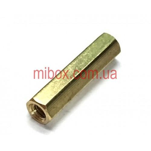 Стойка металлическая гайка/гайка М3х20