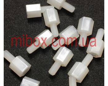 Стойка пластиковая гайка/винт М3х5+6