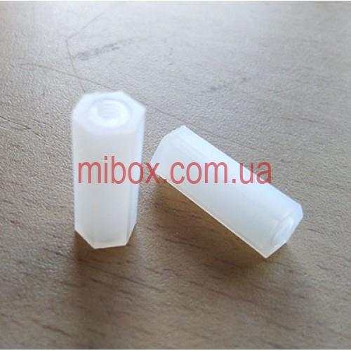 Стойка пластиковая гайка/гайка М3х15