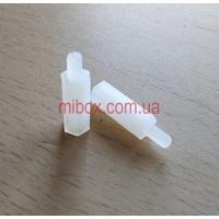 Стойка пластиковая гайка/винт М3х15+6