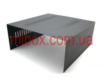Корпус металлический MB-14 (Ш325 Г330 В140) черный, RAL9005(Black textured)