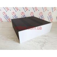 Корпус металлический с алюминиевой панелью MB-19 (Ш260 Г250 В80) черный, RAL9005(Black textured)