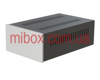 Корпус металлический с алюминиевой панелью MB-22 (Ш170 Г265 В90) черный, RAL9005(Black textured)