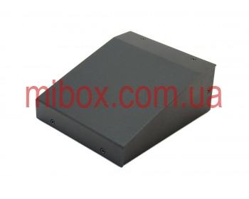 Корпус металлический с наклонной панелью MB-23 (Ш150 Г125 В60) черный, RAL9005(Black textured)