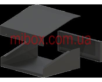 Корпус металлический, модель MB-25ECU-W230H80L200, RAL9005(Black textured)