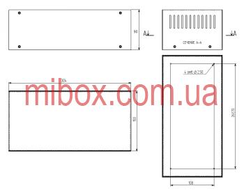 Корпус металлический, модель MB-29ECU-W304H90L150, RAL9005(Black textured)