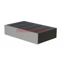 Корпус металлический с алюминиевой панелью MB-31 (Ш420 Г260 В90) черный, RAL9005(Black textured)