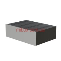 Корпус металлический с алюминиевой панелью MB-32 (Ш430 Г310 В132) черный, RAL9005(Black textured)