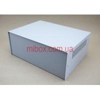 Корпус металлический, модель MB-39ECU-W295H120L217, RAL9006(Metallic textured)
