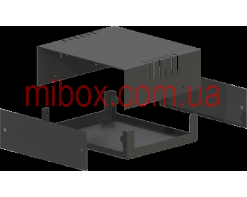 Корпус металлический MB-4 (Ш150 Г130 В50) черный, RAL9005(Black textured)