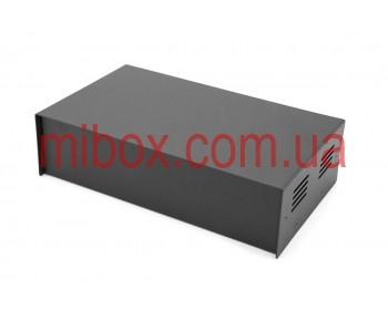 Корпус металлический MB-41 (Ш240 Г140 В65) черный, RAL9005(Black textured)