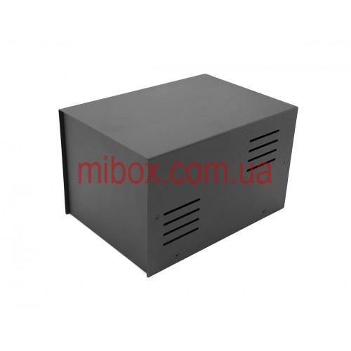 Корпус металлический MB-43 (Ш155 Г220 В135) черный, RAL9005(Black textured)